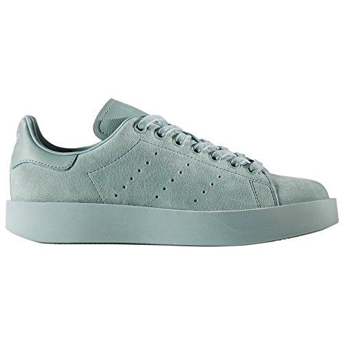 adidas Originals Women'S Stan Smith Bold Zapatillas Negras Plataforma Piel Para Mujer zake (37 1/3 EU - 4.5UK, Pink/Linen)