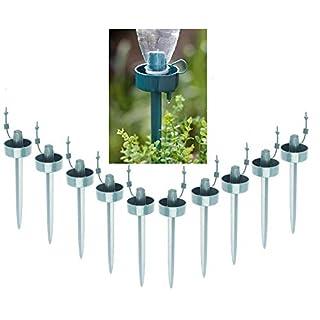 10Stück automatischen Bewässerung, Bewässerung Wasserspender, Garten Pflanzen Wasser Blume selbst Spikes Gerät mit einstellbarer Durchflussmenge, Vacations Pflanzen Wasser Drip Sprinkler Wasser Kits