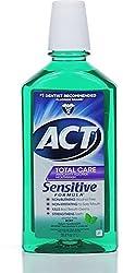 ACT Total Care Anticavity Fluoride Mouthwash Sensitive Formula Mild Mint 33.80 oz