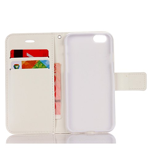 JIALUN-étui pour téléphone Pure Ribbon Card Slot Wallet Fonction Flat Open With Magnetic Buckle Phone Shell pour IPhone 6 et 6s ( Color : Beige ) Beige