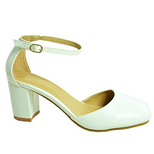 Cucu Fashion - Sandali con Zeppa donna White