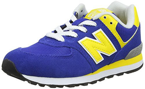 New Balance Pc574v1, Unisex-Kinder Sneaker, Blau (Blue/Yellow), 28 EU (10 UK)
