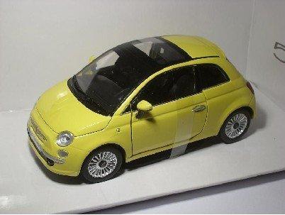 Fiat 500 Nuova Neu Gelb Yellow 1/24 Motor Max Motormax Modellauto Modell...