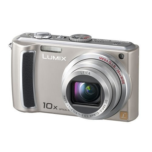 Panasonic DMC-TZ5 E Digitalkamera (9 Megapixel, 10-fach opt. Zoom, 3″ Display, Bildstabilisator) silber