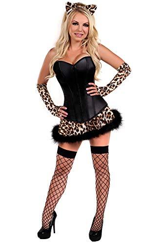 Kostüm Leopard Girl - WEII Erotische Kleidung Leopard Cat Girl Kostüm Europäischen und Amerikanischen Spiel Uniform Anzug Nachtclub DS Bühne Kostüm,Bild,M