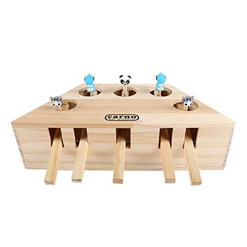 Kostüm Kätzchen Box - ghfashion Haustierzubehör, interessanter Maulwurf-Maus-Spiel, Katze, Hund, Holz, Beißspielzeug Dekoration