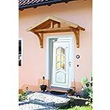 SKANHOLZ Vordach-Set »Stettin« B/T: 180/80 cm, naturfarben mit schwarzen Dachschindeln 180 cm