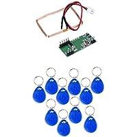 Magideal Módulo RFID Lector de Tarjetas de Identificación de 125KHz EM4100 Para Arduino + 10pc Tarjeta RFID Keytag Herramientas de Alta Calidad
