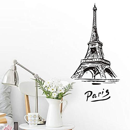Schlafzimmer-Wand-Aufkleber-Wand-Stadt-Paris-Turm-Wandgemälde-Künstler, der Innenraum verziert - Paris-wand-aufkleber