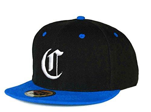 Casquette de Baseball Snapback Bonnet Cap Chapeau Snap back 3D Gothique C Hip-Hop Unisexe ( C Got Black Blue) C Got Blue White