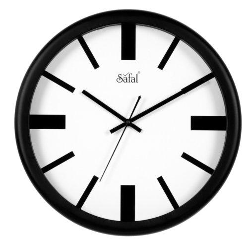 Safal Wooden Wall Clock (34cm x 34cm, Black, SQ 1076)