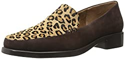 Aerosoles Womens Wish List Slip-On Loafer Leopard Tan 5 B(M) US