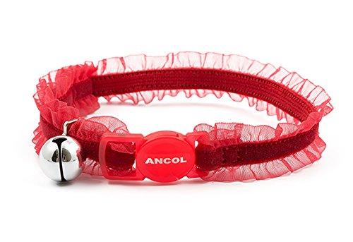 ANCOL - Collarín Seguridad Gato Terciopelo, Rojo