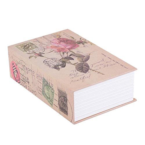ASHATA Caja de Seguridad en Forma de Libro,Caja de Almacenamiento Creativa Vintage,Caja de Seguridad...