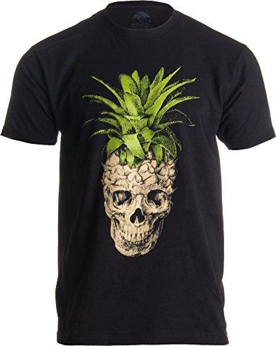 (Ananas-Totenkopf-Motiv - skurriles & Gruseliges Frucht-Motiv Herren Tropisch T-Shirt- XL)