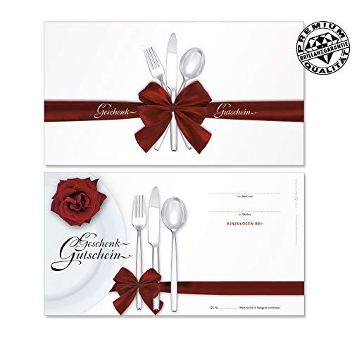 100 Stk. Geschenkgutscheine für Restaurants, Gasthäuser, Gaststätten G1291, LIEFERZEIT 1 bis 4 Werktage !!!