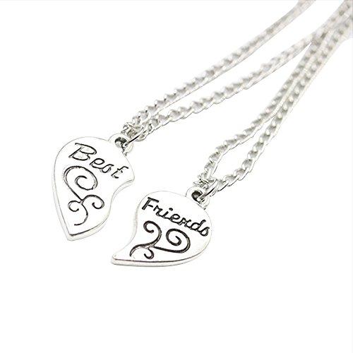 *Best Friends BFF Split Herz Anhänger Halskette, Kettenlänge : ca. 52cm 1 Satz 2 Stück*
