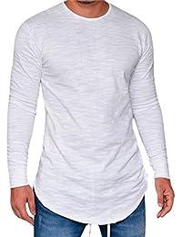 28c6cdad0558f0 semen Herren Langarm Shirt Baumwoll Longsleeve Slim Fit T-Shirt Leicht  Oversize Basic Sweatshirt in
