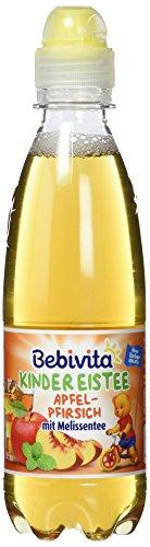 Bebivita Kinder-Getränke Kinder Eistee Apfel, Pfirsich, Melissen Tee, 300 ml (Aromen Lebensmittel Gemischten)