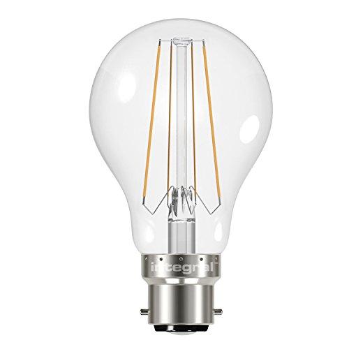 Integral LED-nicht dimmbar klar filament breit Abstrahlwinkel GLS Classic Globe Leuchtmittel, glas, B22, 4 wattsW Integral Led