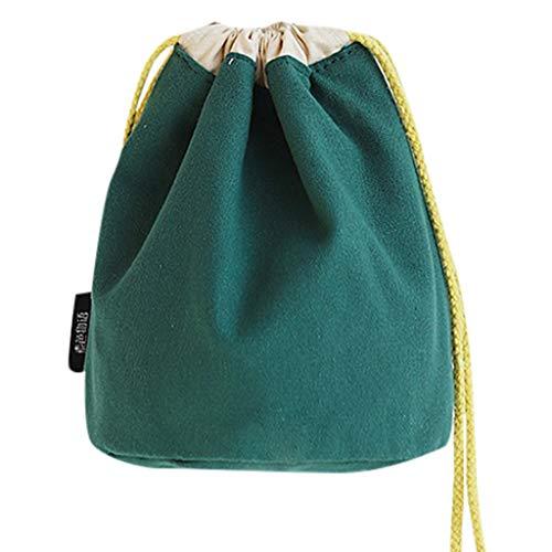 UmhäNgetasche, Chshe TM, Women Beam Mouth Canvas UmhäNgetasche Drawstring Bucket UmhäNgetasche Diagonalverpackung Fresh Cotton Messenger Bag Handtasche(GrüN) Diagonal Beam