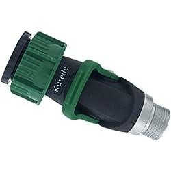 Quick connector for taps, Adaptador para grifo interior, Valvula de regulacion, Conexión dispositivo pieza grifo Conector con de 3/4″ o 1″ para jardín, manguera, accesorios - por Kurelle