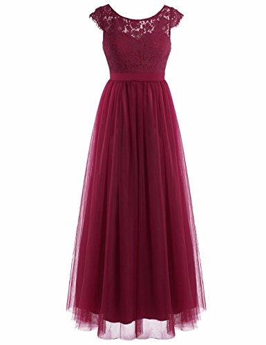 iiniim Damen Cocktailkleid Partykleid Sommerkleid Spitzenkleid Tüll Brautjungfer Hochzeitskleid...