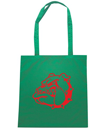 T-Shirtshock - Borsa Shopping FUN1245 dog breed decal 78 63242 Verde