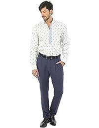 House of Three Men's Plain Slim Fit Cotton Casual Shirt