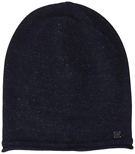 TOM TAILOR Casual Herren Strickmütze weiche Beanie Mütze im LeinenMix, Blau (Knitted Navy 10690), One Size