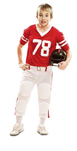 Imagen de my other me  disfraz de jugador de rugby para niño, 7 9 años, color rojo viving costumes 202112