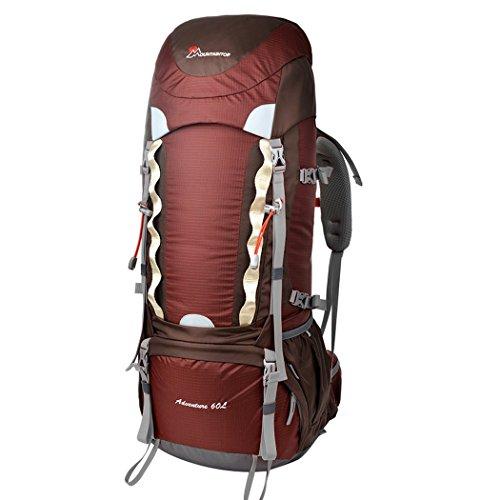 Imagen de mountaintop 60l  de senderismo impermeable multifunciona backpack / trekking bolsa de mochilero / escalada  /  de camping /  de viaje para el alpinismo con cubierta de la lluvia 651ii 76 x 36 x 26 cm