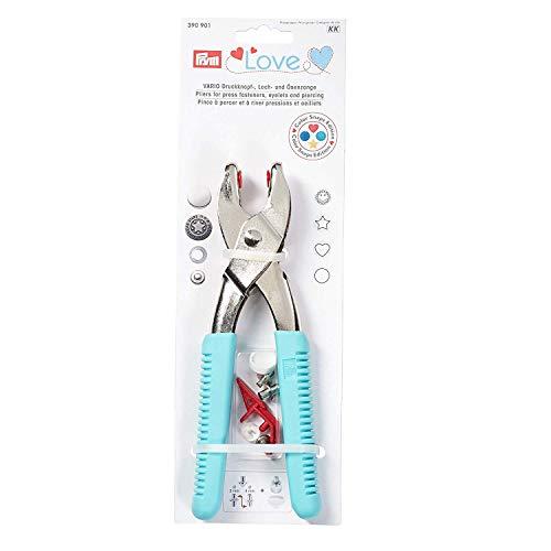 Prym 390901 Prym Love Vario-Zange mit Loch-/Color Snaps Werkzeug mint