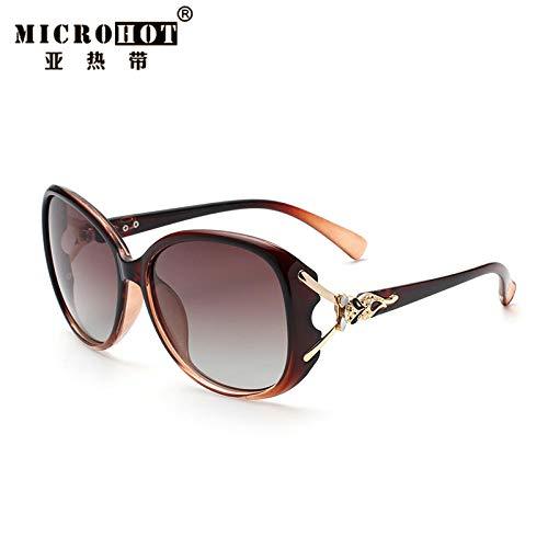 BADQ Sonnenbrille Frauen polarisierte Sonnenbrille weibliche Mode 2019 koreanische Version der Flut UV-Brille rundes Gesicht großes Gesicht mit Myopie