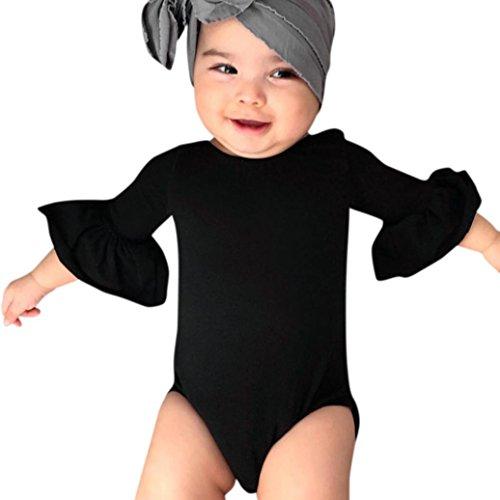 Sunnywill Baby Bekleidung Baby Bekleidung Jungen Mädchen Rüschen Hülsenspielanzug Playsuit...