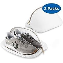19805ff67fa Ecooe Paquete de 2 Bolsas Premium de Malla de Lavandería para Zapatos   Zapatos  de deporte