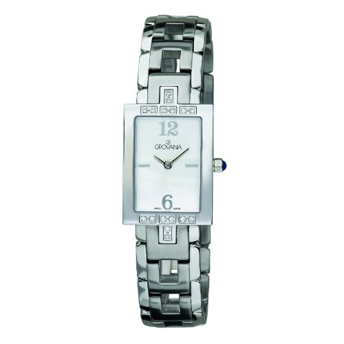 GROVANA 4560.7132 Women's Quartz Swiss Watch with Silver Dial Analogue Display and Silver Stainless Steel Bracelet