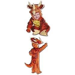 Tres Dinosaurio Triceratops Horn Niño Traje Rojo Talla S 6 a 12 meses