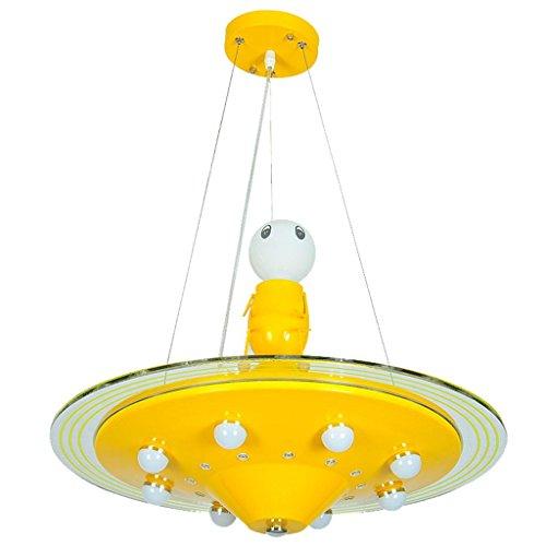 Ventura Juwel (XXFFH® Pendelleuchten Kinder Kronleuchter UFO Einstelllicht LED-Augen Cartoon Kronleuchter Jungen und Mädchen Raumbeleuchtung)