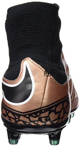 Nike Hypervenom Phatal II DF FG, Chaussures de Football Homme Doré / noir (rouge bronzé métallique / noir - vert lumineux - blanc)