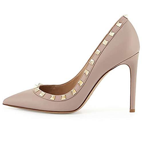 Caitlin Pan Damen Sexy Point Toe High Heels,Lackleder Pumps,Hochzeitskleid Schuhe,Süße Abend...