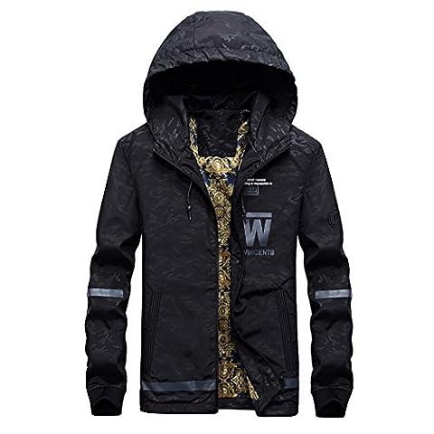 WALK-LEADER - Sweat-shirt à capuche - Col Rond - Manches Longues - Homme - noir - Small