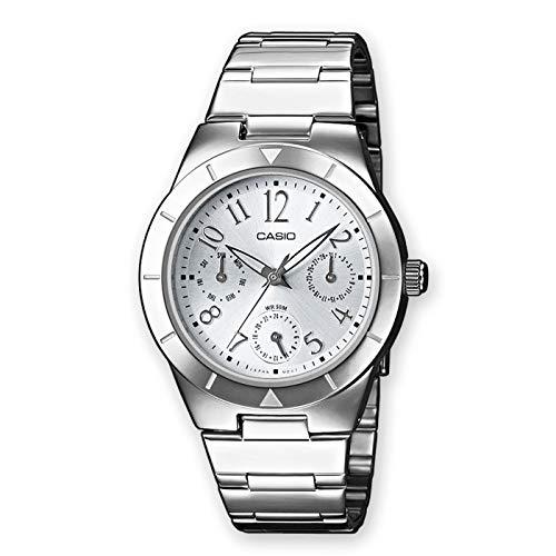 Casio Damen Analog Quarz mit Edelstahl Armbanduhr LTP2069D2A2VEF (Edifice Damenuhren Casio)