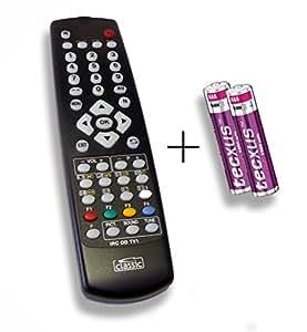 Ersatzfernbedienung speziell für GRUNDIG T 51-730TEXT DLZE®-Edition inkl. Batterien