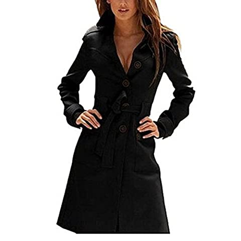 Hee Grand Women's Autumn overcoat Black Chinese XL