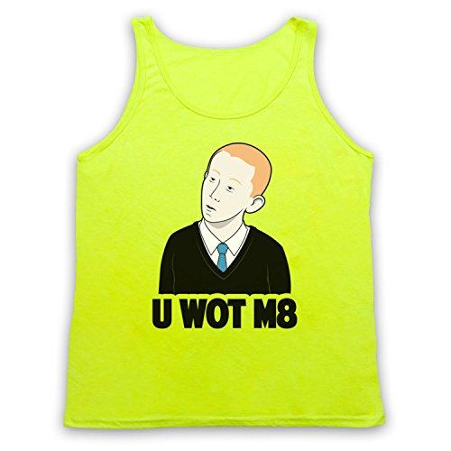 U Wot M8 Internet Meme Tank-Top Weste Neon Gelb