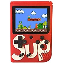 Devwebzone Classic Retro Video Gaming Player Colorful LCD Screen USB Rechargeable Portable Game Console with 400 Classic Old Games Best Toy Gift for Kids
