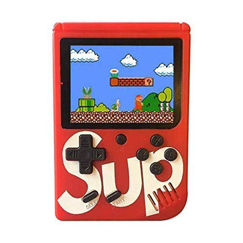 Catcher 400 in 1 Super Handheld Game Console, Classic Retro Video Game, Colourful LCD Screen, Portable, Best for Kids by Mousetrap (Red)