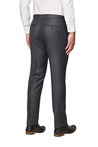next Homme Costume en laine rayée britannique: Pantalon Gris Anthracite