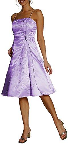 Usignolo + lòdola maniche lunghe a-linea cocktail dell'abito sposa dell'abito solida, transportation dell'abito Abenkleid Satin Lilla